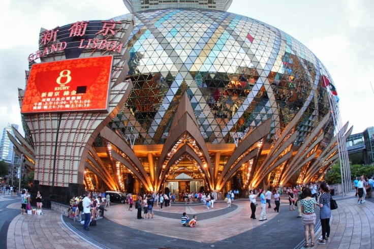 The Grand Lisboa... I still can't decide whether its a monstrosity or not.