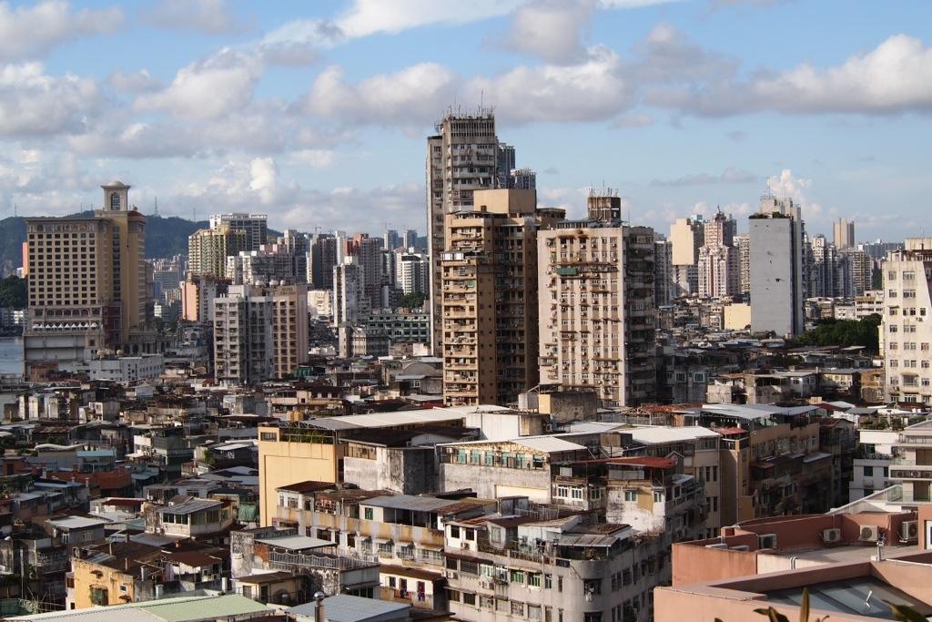 The view near St. Laurence's Church (Estrada D. Joao Paulino)