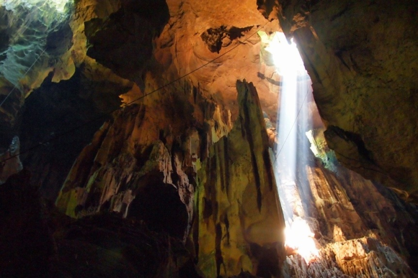 Sunbeams in the Great Cave