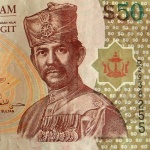 The Sultan on a $50 bank note